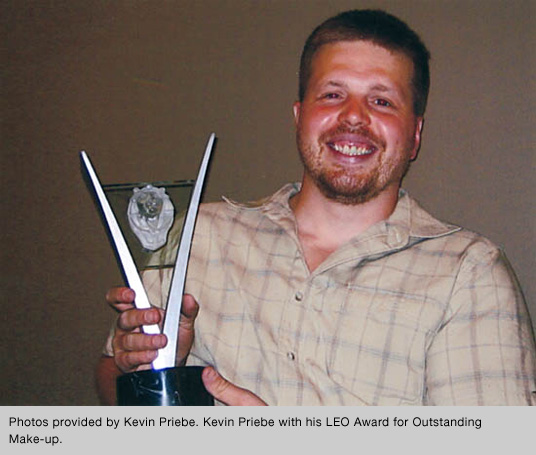 Kevin Priebe with Leo Award