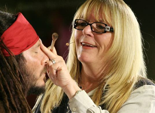 Ve Neill doing Jack Sparrow Makeup demo