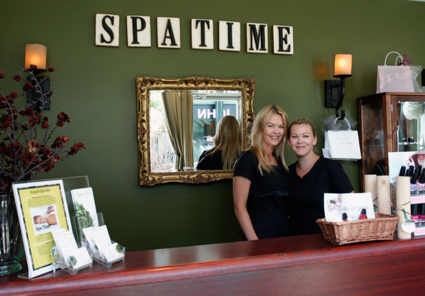 Esthetics and Spa school graduates, co-owners of Spa Time, a beautiful Spa in Delta, BC.