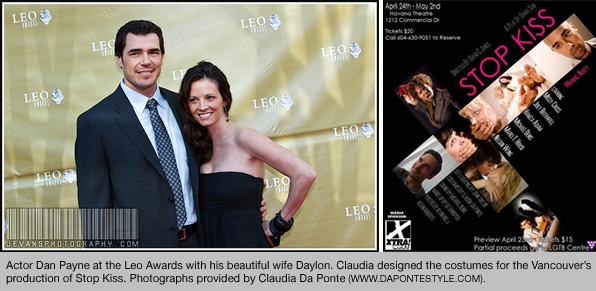Blanche Macdonald Fashion Merchandising Graudate Claudia Da Ponte styled Actor Dan Payne for the Leo Awards