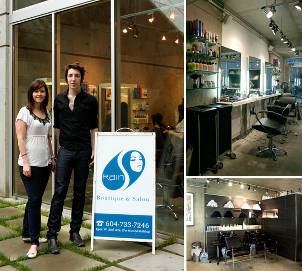 Hair School Graduate Sam and Jeff at Rain Hair Salon
