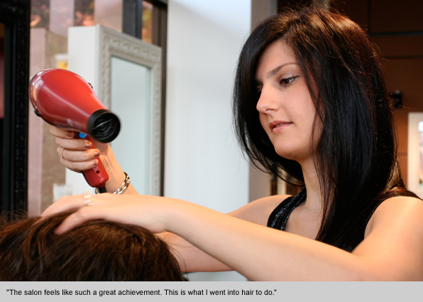 Hair student tips Annalisa Sidonio