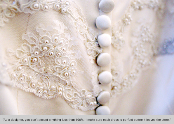 Fashion Design tips student Caroline Calvert on bridal gowns design