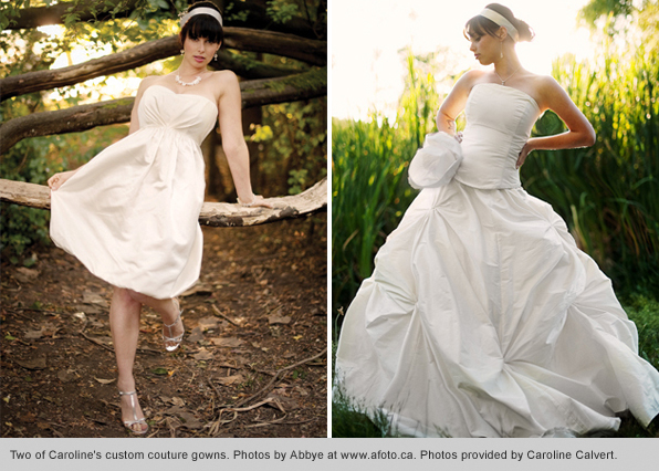 Top fashion design school graduate Caroline Calvert Wedding dresses designer