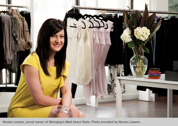 Top Fashion Merchandising School Graduate Nicola Loewen, Owner of Mad About Style Boutique