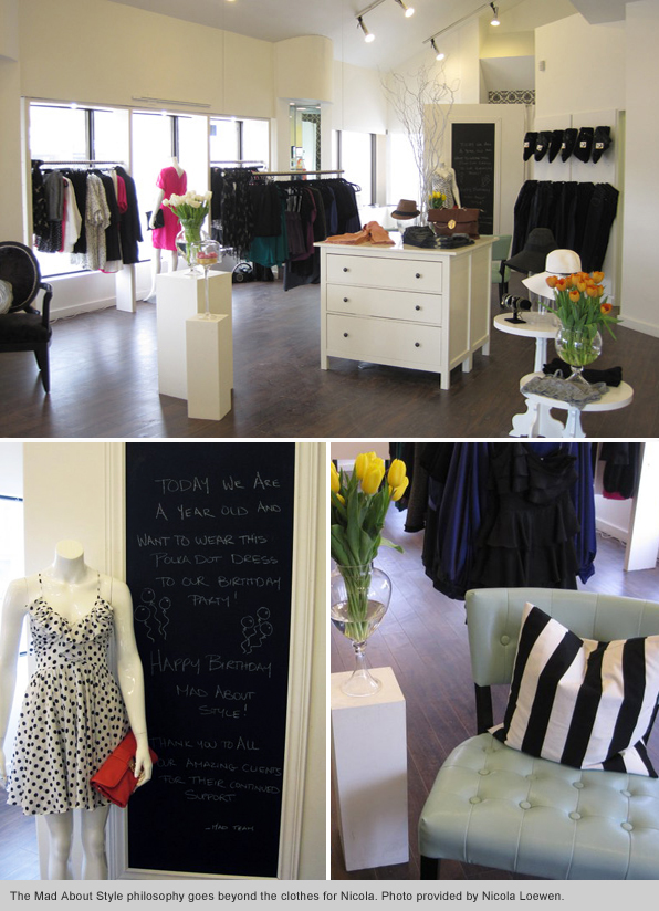 Top Fashion School Graduate Nicola Lowen - Inside Mad About Style Boutique