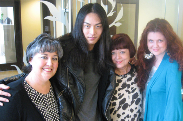 Top Fashion School Grad David Chiang with BMC Staff Mel Donna Peggy