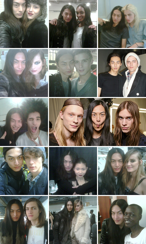 Top Fashion School Grad David Chiang with Runway Model Friends