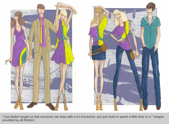Top Fashion School Grad Jill Rothert Sketches