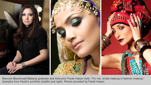 Top Makeup School graduate and instructor Farah Hasan