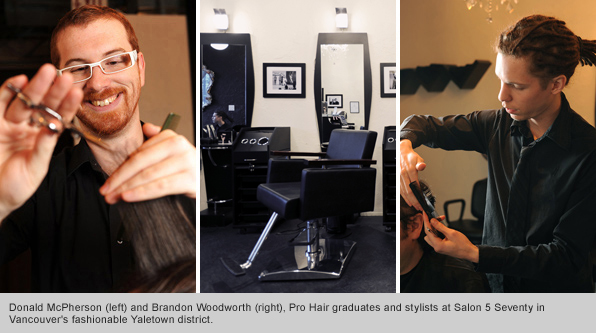 Top Hair School Graduates Donald McPherson ad Brandon Woodworth