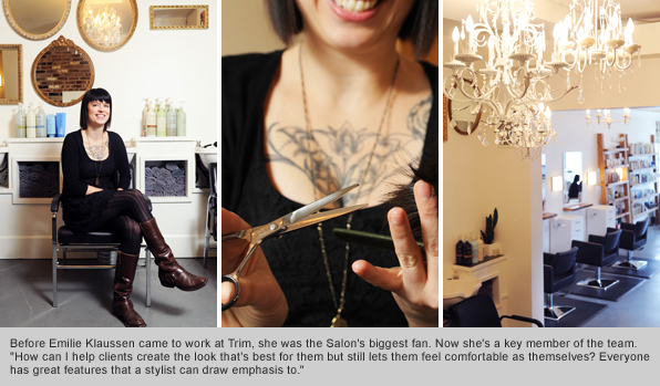 Top Hair School Graduate Emilie Klaussen, Trim Hair Salon