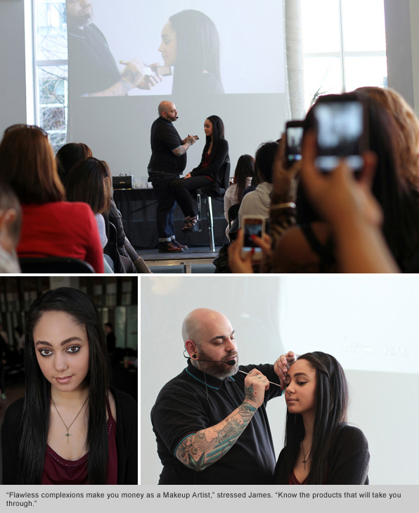 Celebrity Makeup Artist James Vincent visits Blanche Macdonald