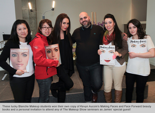 Top Makeup School Special Guest Top Artist James Vincent at CurliQue Beauty