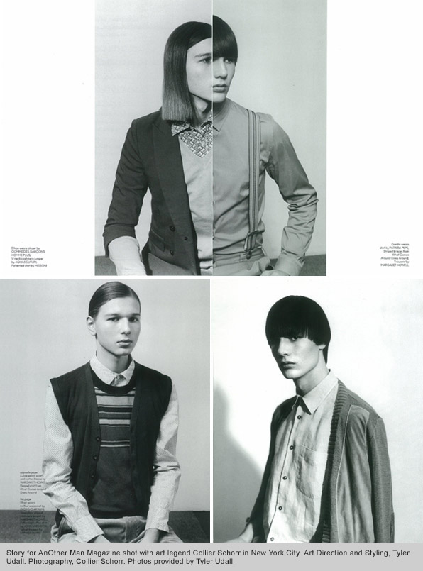 AnOther Man Magazine, Collier Schorr, Tyler Udall