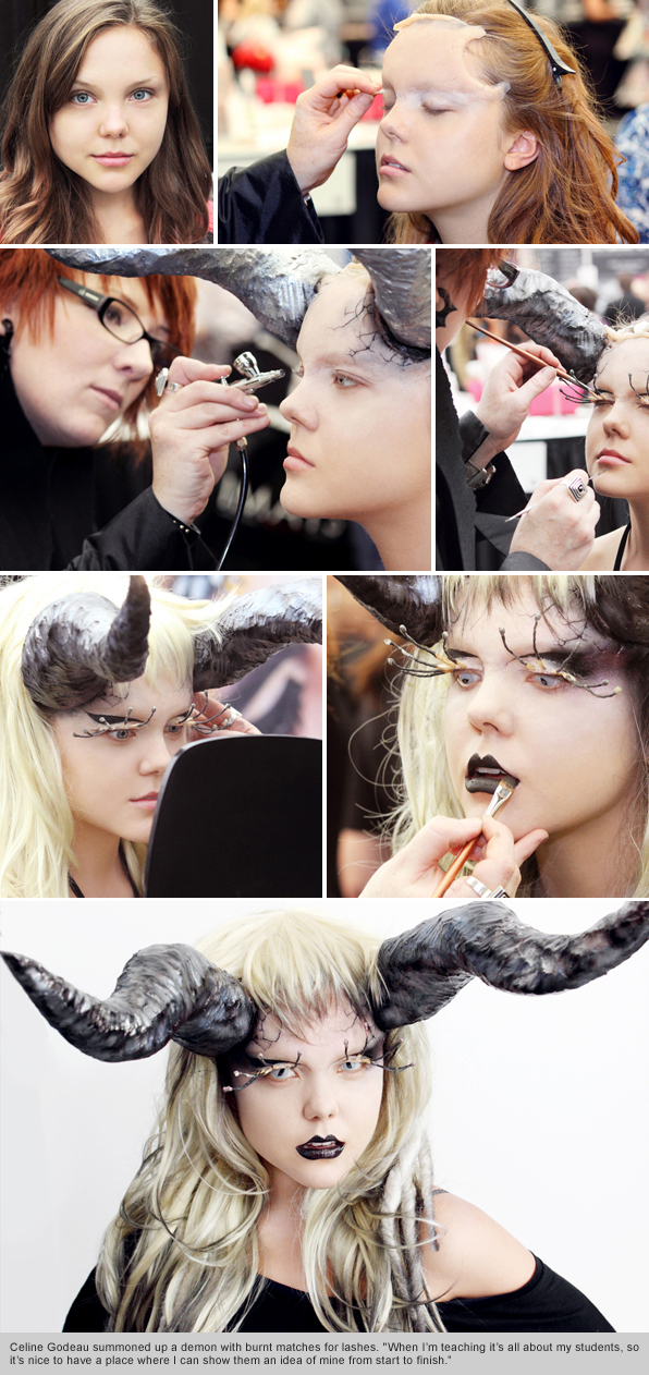 Top makeup school graduate instructor Celine Godeau IMATS Vancouver Demo