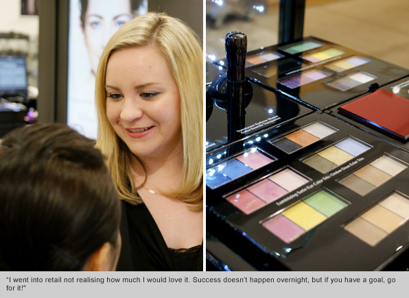 Top Makeup School Graduate Holly Carpenter, Regional Trainer Shiseido