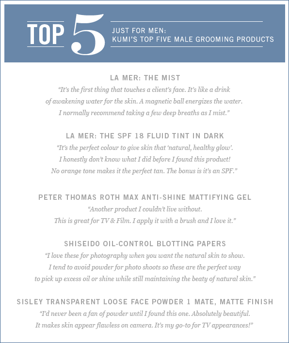 Groomer Kumi Craig's Top 5 Male Grooming Products