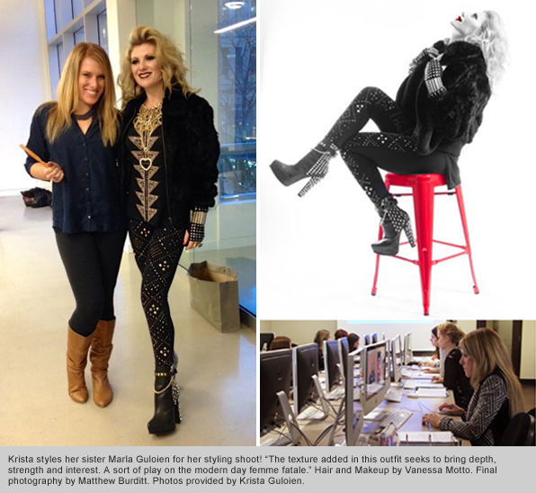 Top Fashion School student Krista Guloien