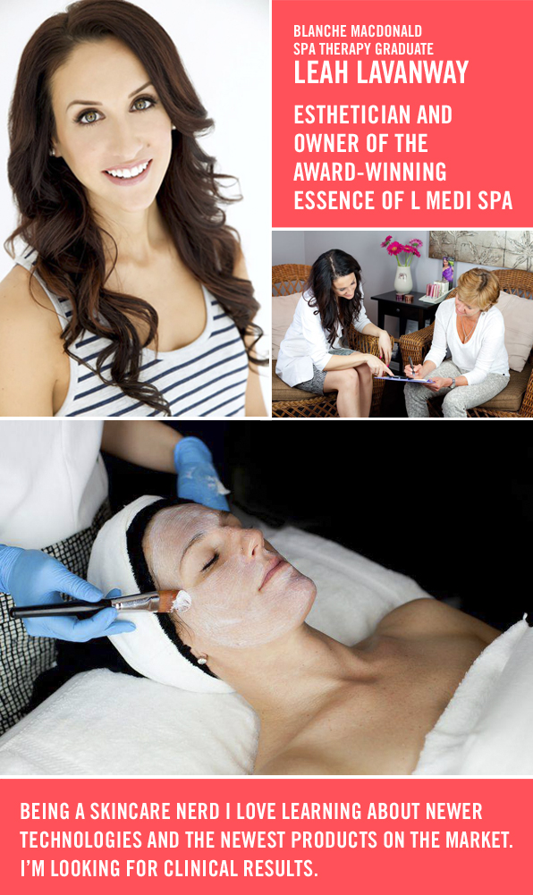 Top Esthetics School Graduate Leah LaVanway, Owner of Award Winning Medi Spa, Essence of L
