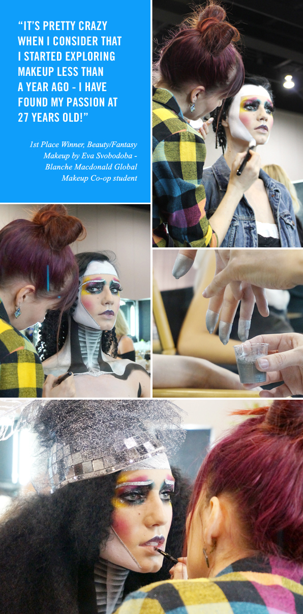 Top Makeup School Graduate Eva Svobodova, 1st Place Winner at IMATS Vancouver 2015