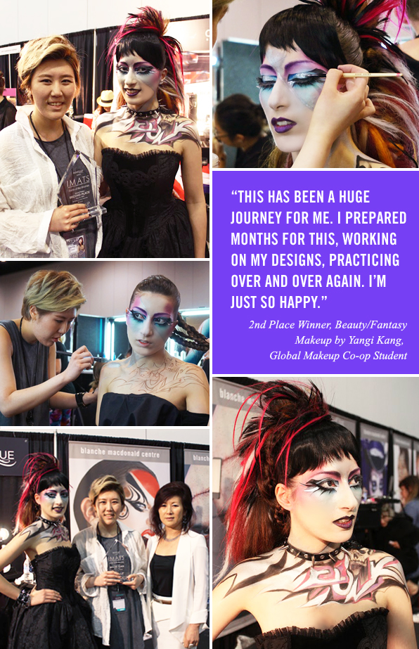 Top Global Makeup Co-op student Yangi Kang, 2nd Place Winner at IMATS Vancouver 2015