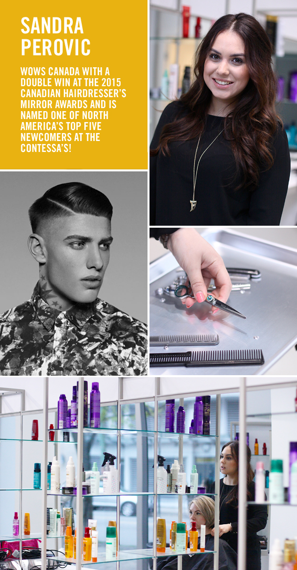 Top Hair School Graduate and Award-winning Hairstylist Sandra Perovic