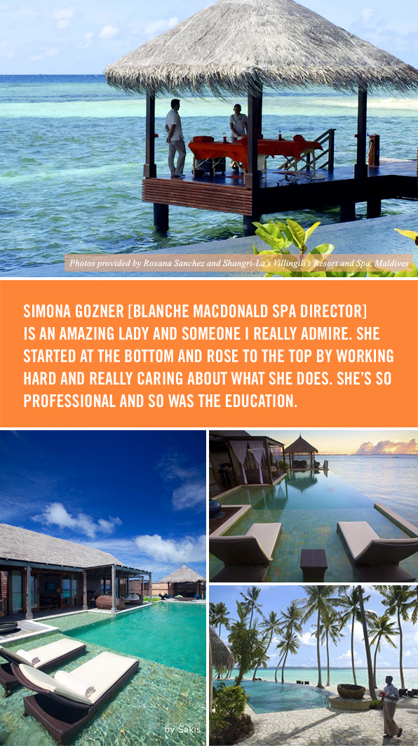 Top Esthetics School Graduate Roxana Sanchez - Shangri-La Maldives