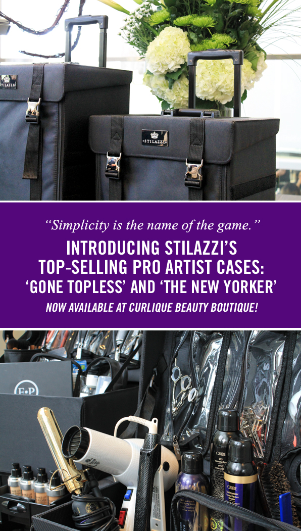Stilazzi Pro Cases 'Gone Topless' and 'The New Yorker' now available at CurliQue Beauty Boutique
