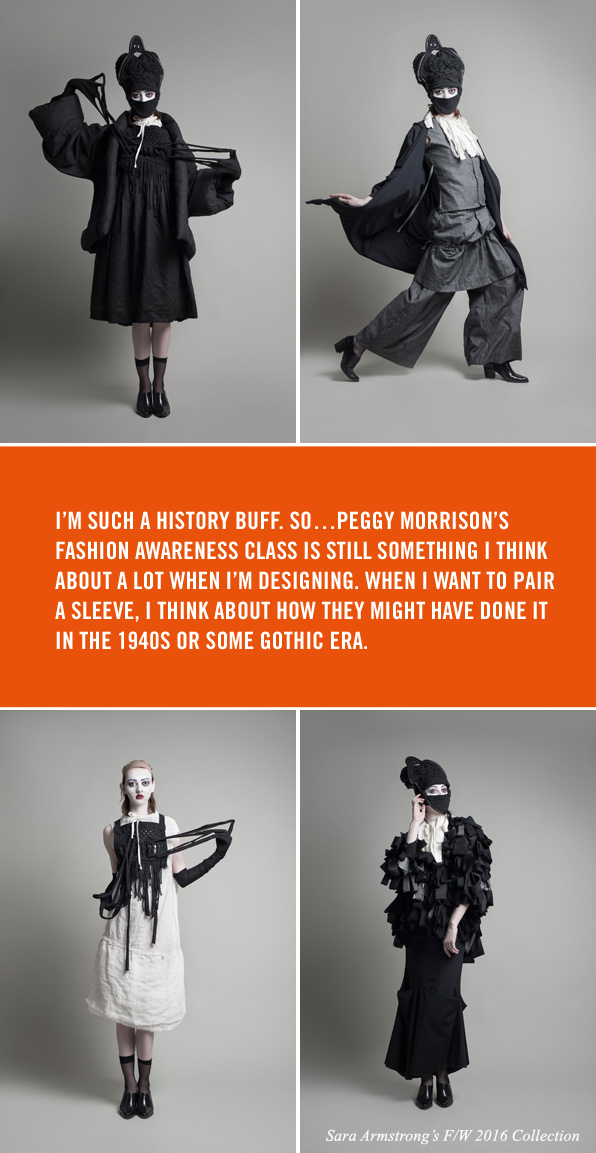 Top Fashion Design Graduate and Instructor Sara Armstrong