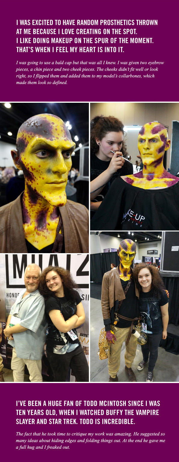 Blanche Macdonald Makeup student Devon Burbank from Grande Prairie, Alberta wins 1st Place at IMATS Vancouver 2016!