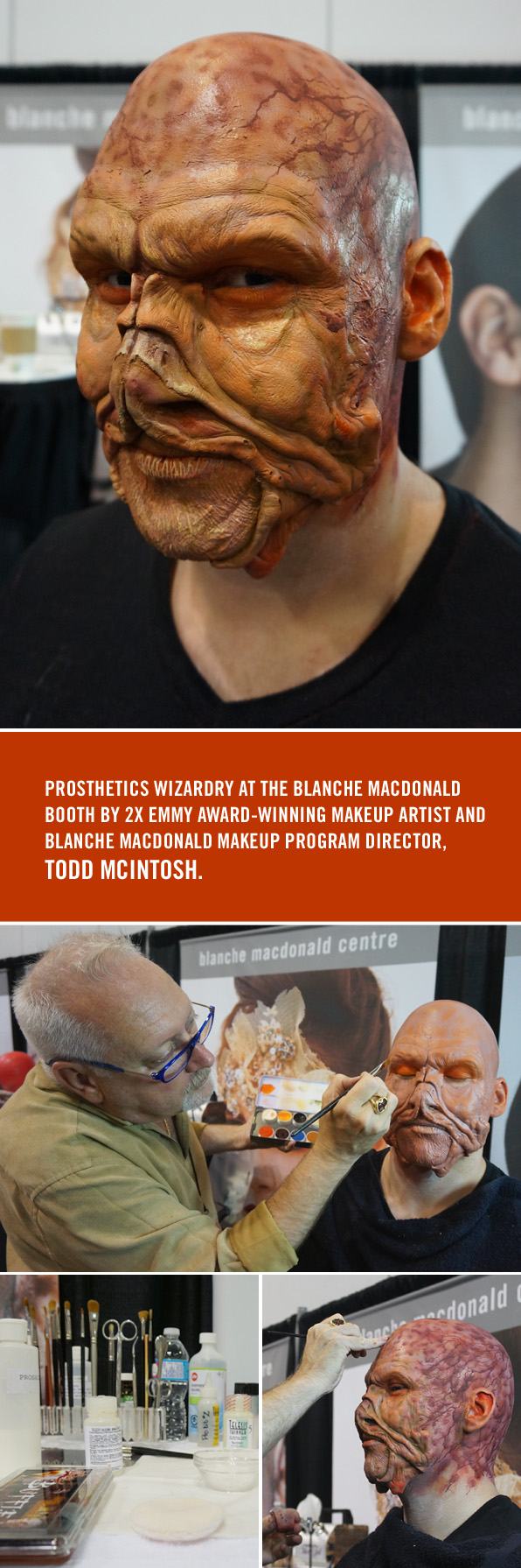 Emmy Award-winning Makeup Artist Todd McIntosh's live demo at the Blanche Macdonald IMATS Vancouver booth!
