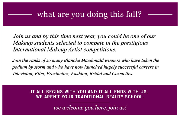 We welcome you to Blanche Macdonald!