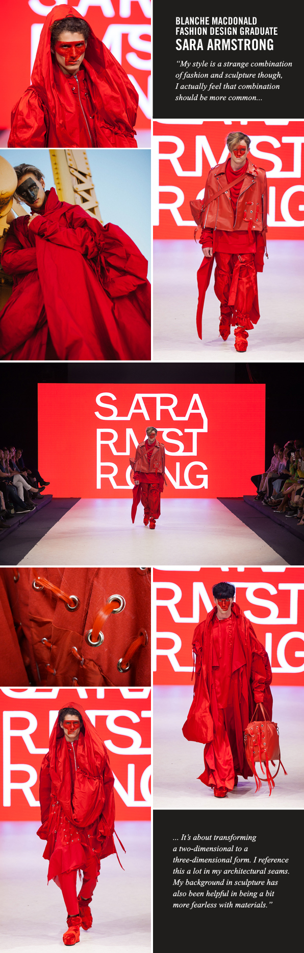 Blanche Macdonald Fashion Design graduate-turned-instructor Sara Armstrong at Vancouver Fashion Week SS17