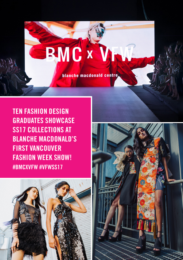 Blanche Macdonald's inaugural Alumni Show at Vancouver Fashion Week!