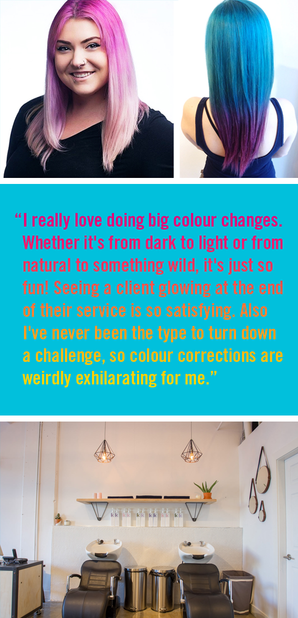 Blanche Macdonald Pro Hair Program Graduate Ali Smith, Artel Hair Salon Vancouver