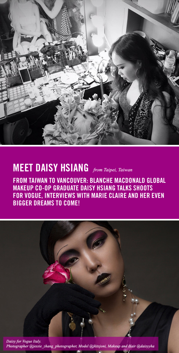 Top Global Makeup Co-op Graduate Daisy Hsiang from Taiwan