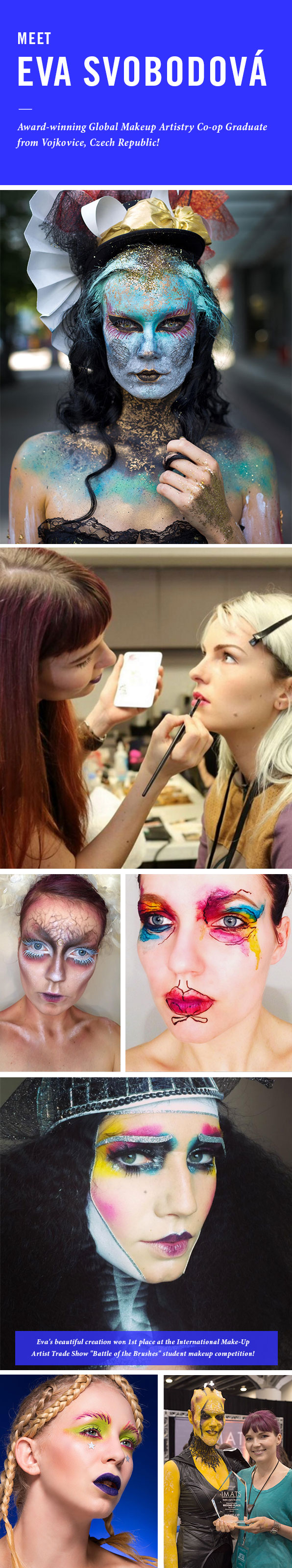 UN Profile: Meet Eva Svobodova, Blanche Macdonald Global Makeup Co-op graduate from Vojkovice, Czech Republic!