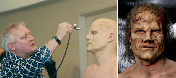 Makeup Artist Todd MacIntosh Airbrushing