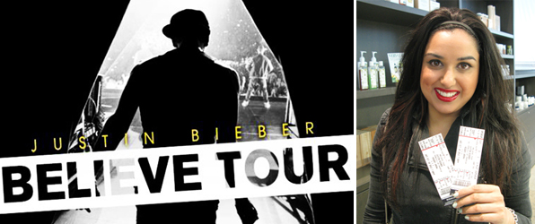 Blanche Macdonald Exclusive Contest Winner Justin Bieber Concert Tickets