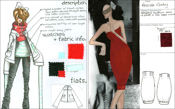 Fashion School Dress and Jacket Designs