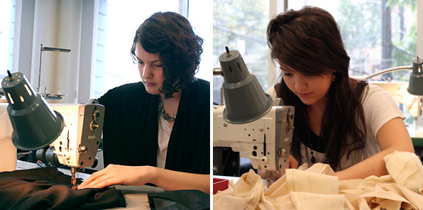 Fashion Design Students Sewing