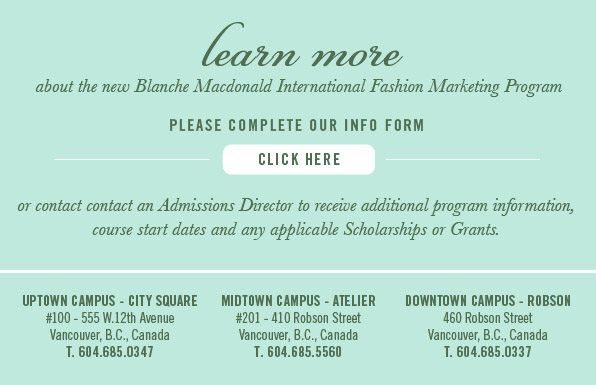 International Fashion Marketing Program Vancouver