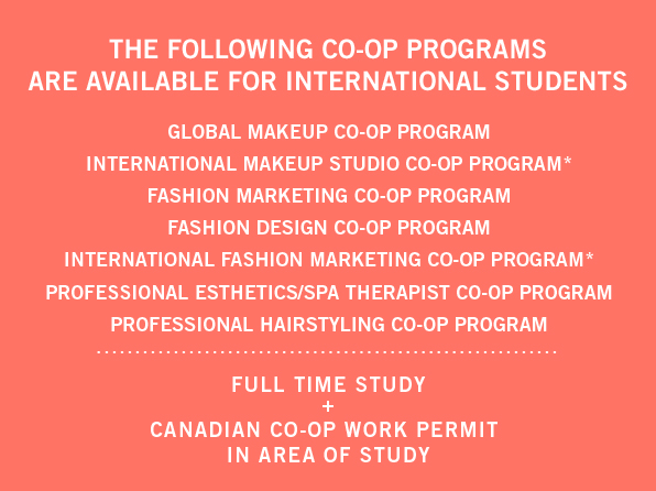 makeup artist co-op program canada