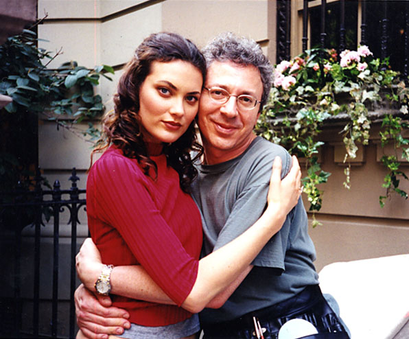 Sydney Silvert Makeup Instructor client Shalom Harlow