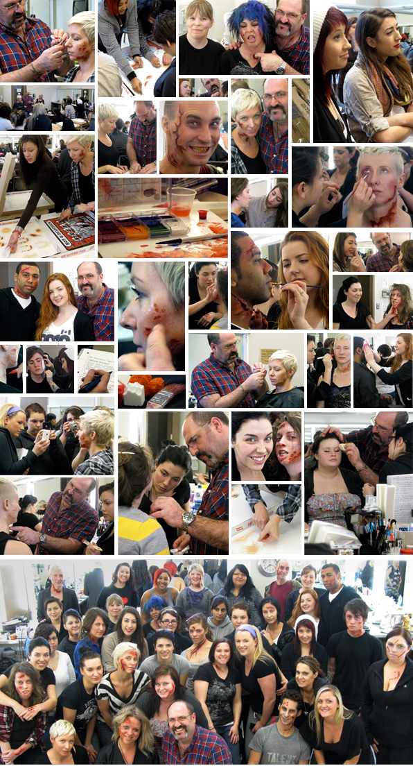 Makeup seminar workshop at Top Makeup School with Academy-award winning makeup artist Howard Berger