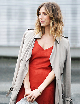 jill lansky the august diaries street style tassle dress trench