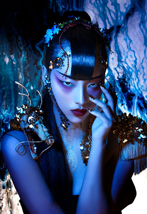 makeup artist turned instructor timothy hung orientalism photoshoot