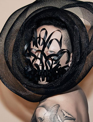 makeup artist turned instructor timothy hung entwined headpiece creative makeup