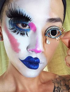 makeup artist turned instructor timothy hung eye brooch inspired makeup